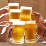 忘年会ビールで乾杯イメージ