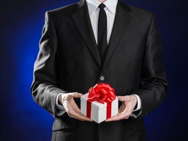 ビジネスシーンのプレゼント