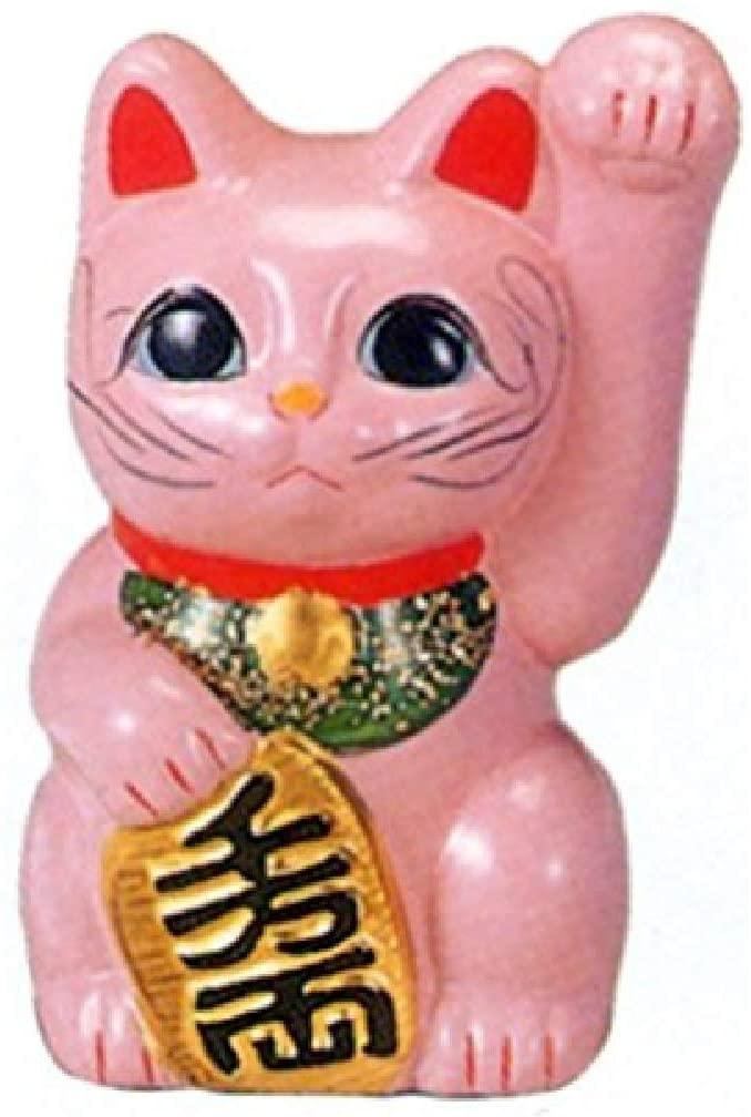 招き猫ピンク