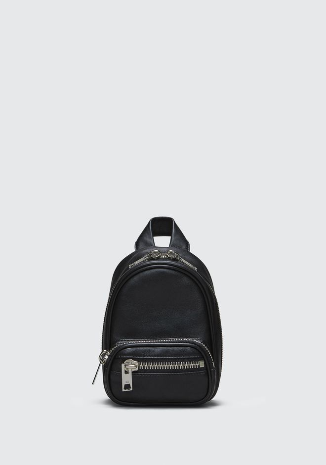 【Alexander Wang】ATTICA SOFT MINI BACKPACK IN BLACK WITH RHODIUM