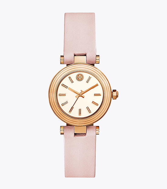 【Tory Burch】CLASSIC T BLUSH LEATHER STRAP