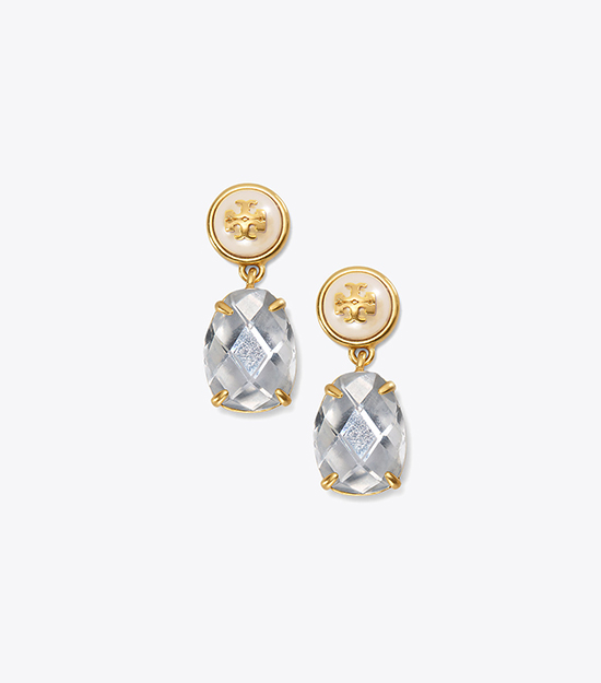 【Tory Burch】EPOXY PEARL STONE EARRING