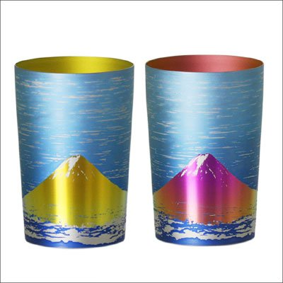 【HORIE】 富士山 二重 純チタン二重タンブラーペアセット