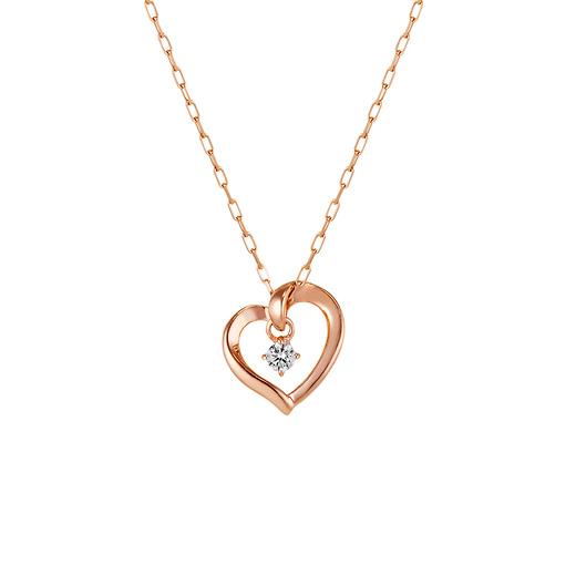 【4℃】K10ピンクゴールド ネックレス オフィスにデートにプレゼントに◎◎◎