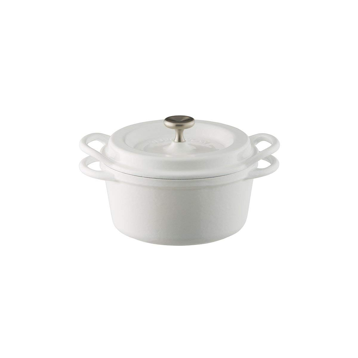 【バーミキュラ】 オーブンポットラウンド 14cm 無水 ホーロー鍋 専用レシピブック付 パールホワイト