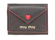 【MIU MIU】マドラス ラブ 財布 ブラック