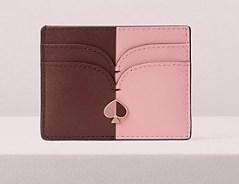 【kate spade】(ケイトスペード)  ニコラ バイカラー バイフォールド カードケース