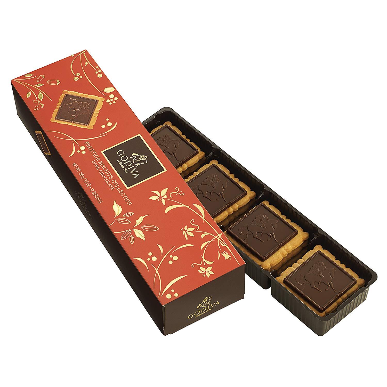 【GODIVA】ゴディバ  プレステージ ビスキュイ ダークチョコレート 12枚
