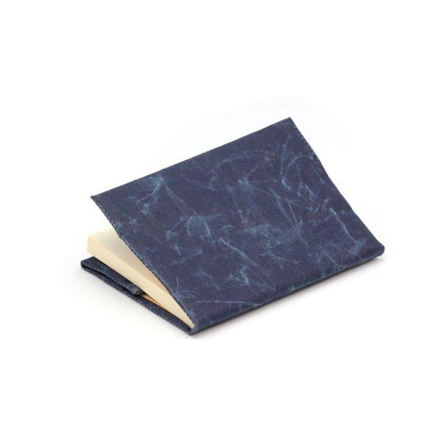 SIWA ブックカバー ダークブルー 文庫サイズ
