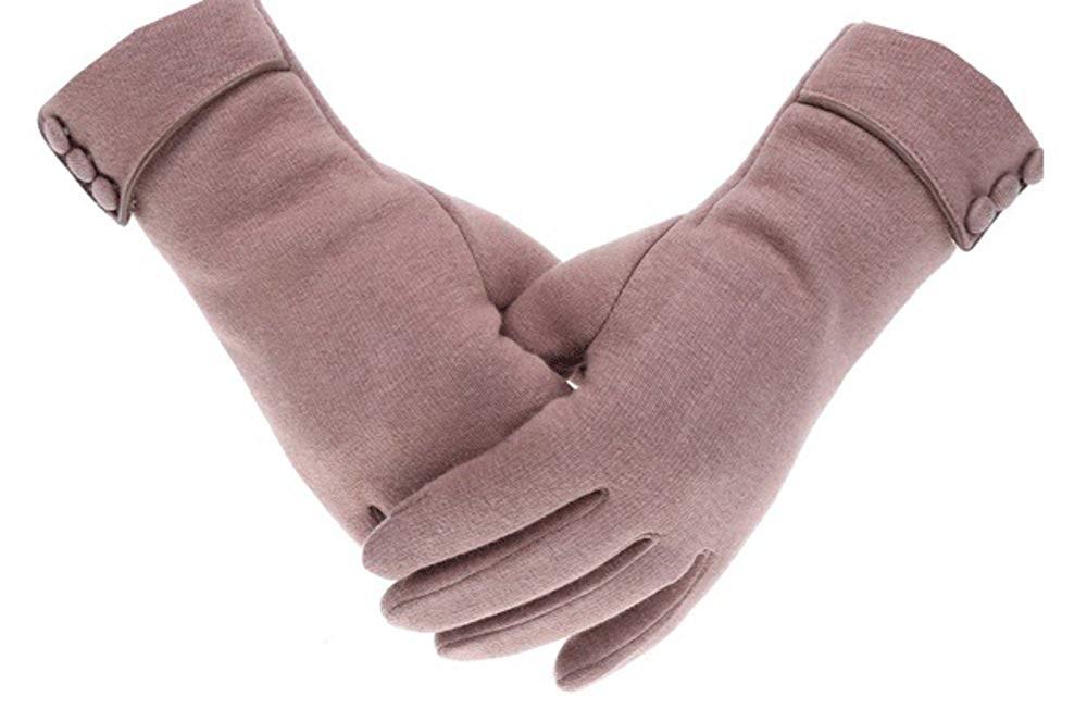 レディース スマホ対応 防寒 手袋  ベージュ
