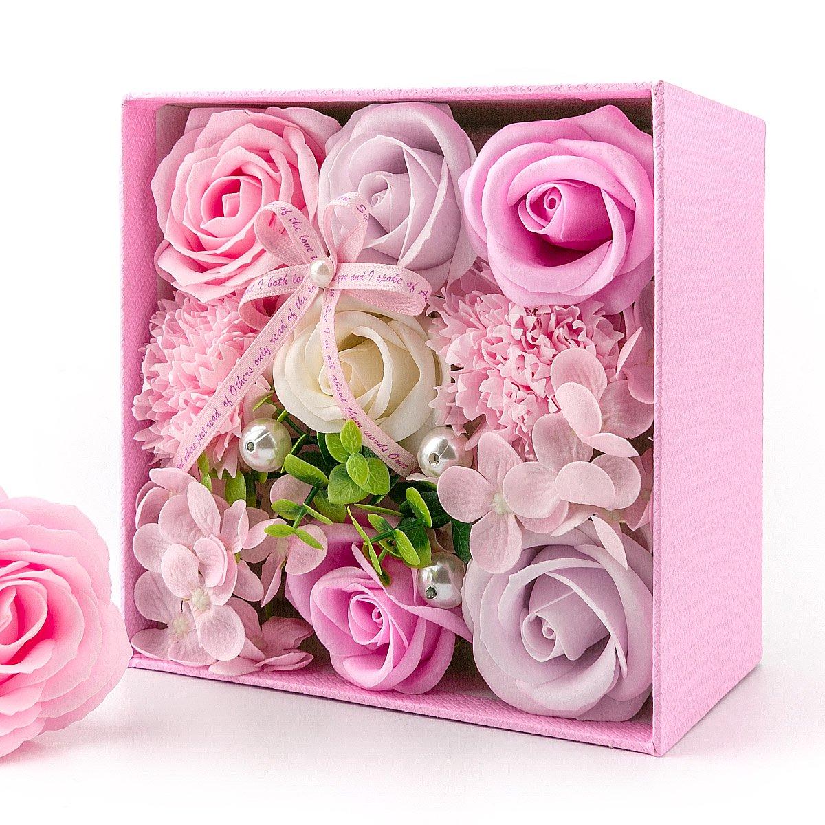 バラ型 フラワーソープ フレグランス ピンク