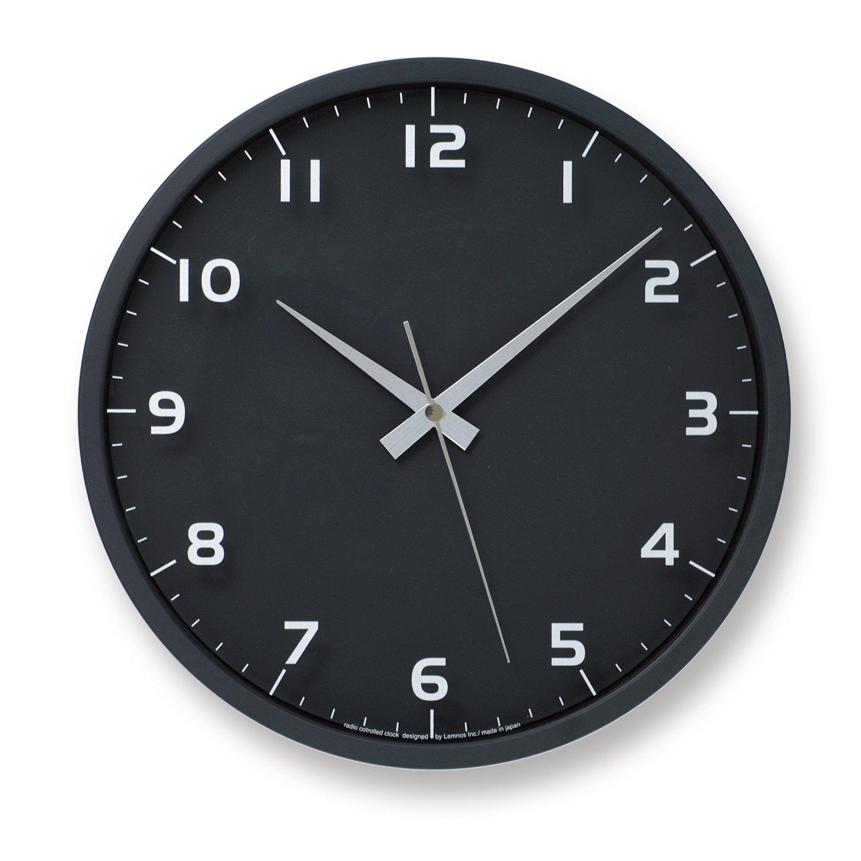 【Lemnos】nine clock 時計(ブラック)
