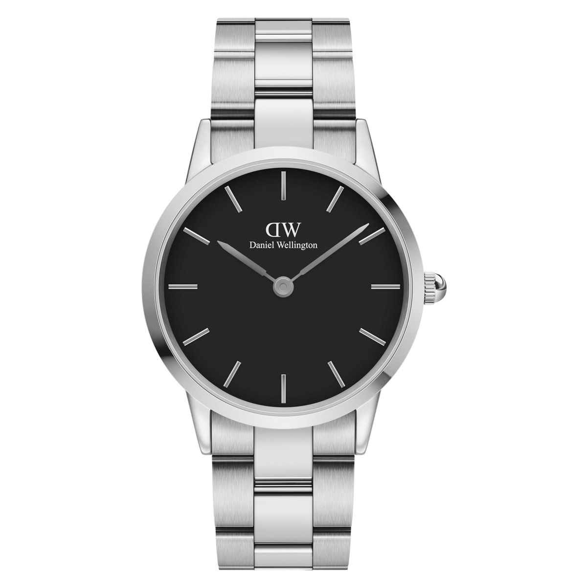 【DANIEL WELLINGTON】Iconic Link 36mm Black メタル  シルバー