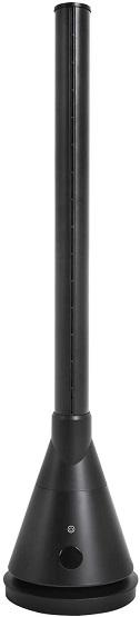 【モダンデコ】冷暖タイプ スリムタワーファン DCモーター (マットブラック)