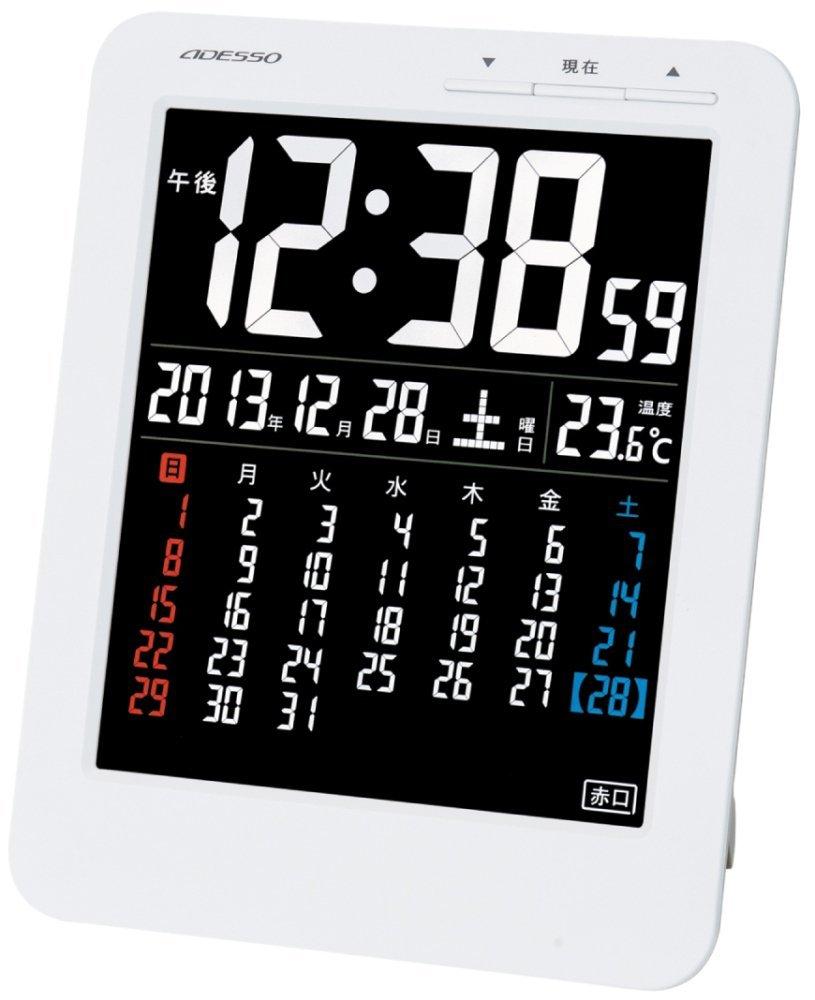 【ADESSO】目覚まし時計(電波、デジタル)
