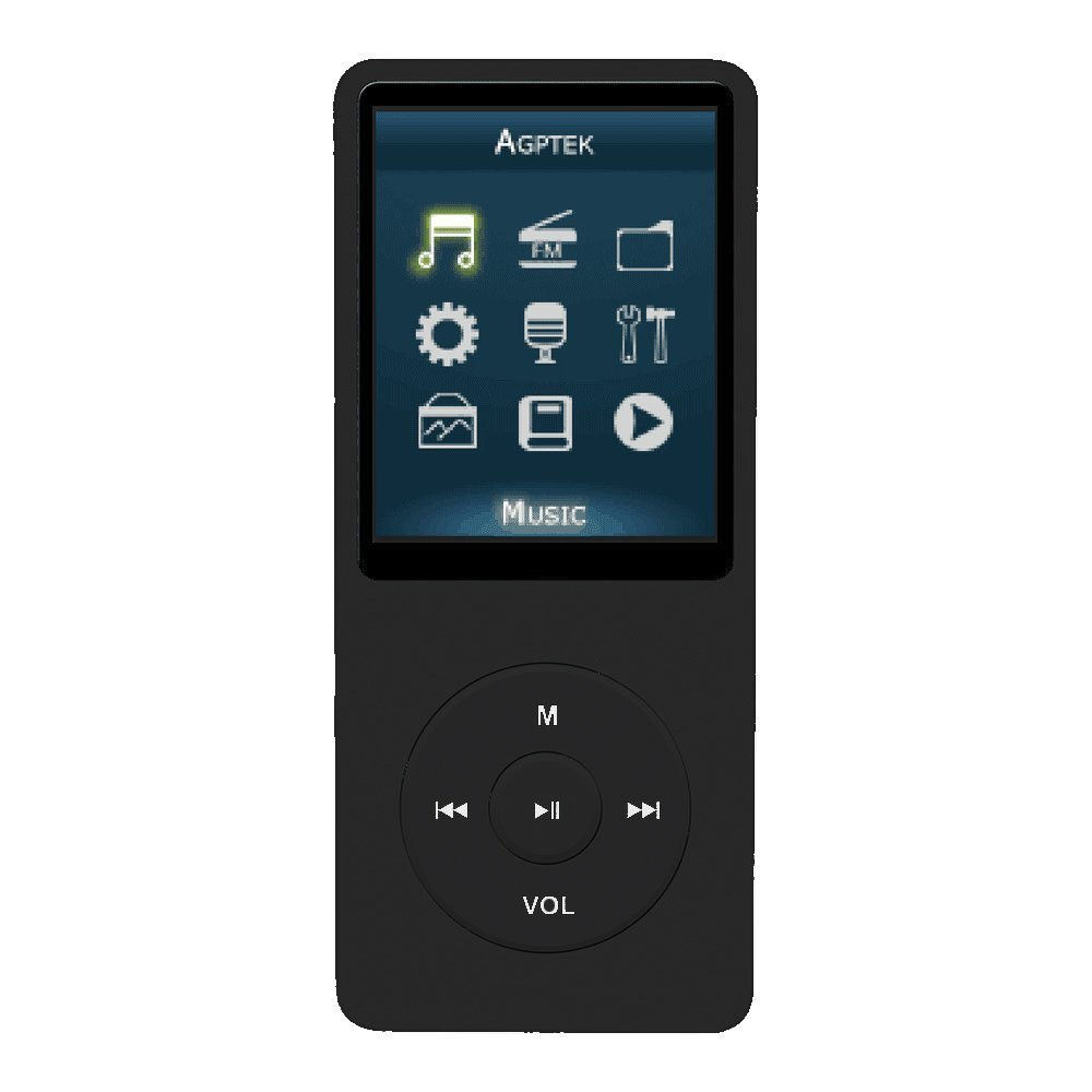 【AGPtek】MP3プレーヤー(ブラック)