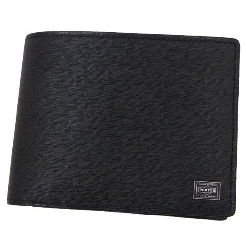 【PORTER】二つ折り 財布 メンズ(ブラック)
