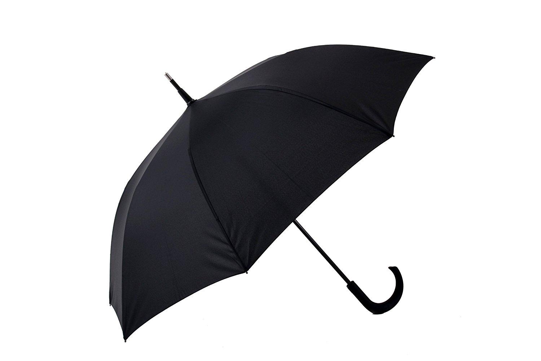 自己防衛傘 全2型 長傘 手開き ブラック